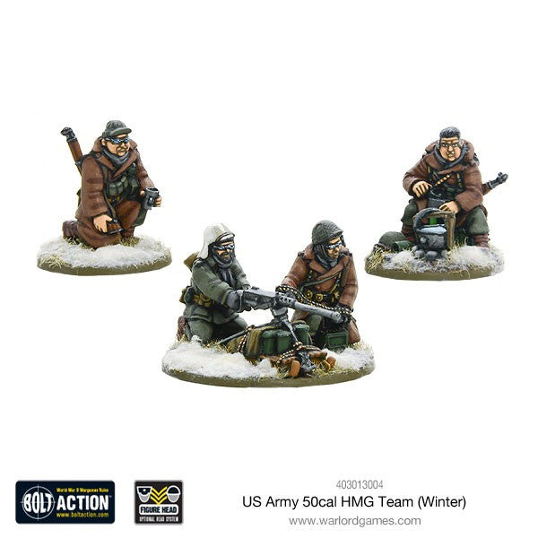 Warlord games - Bolt Action - US Army 50 cal HMG team winter - 28mm