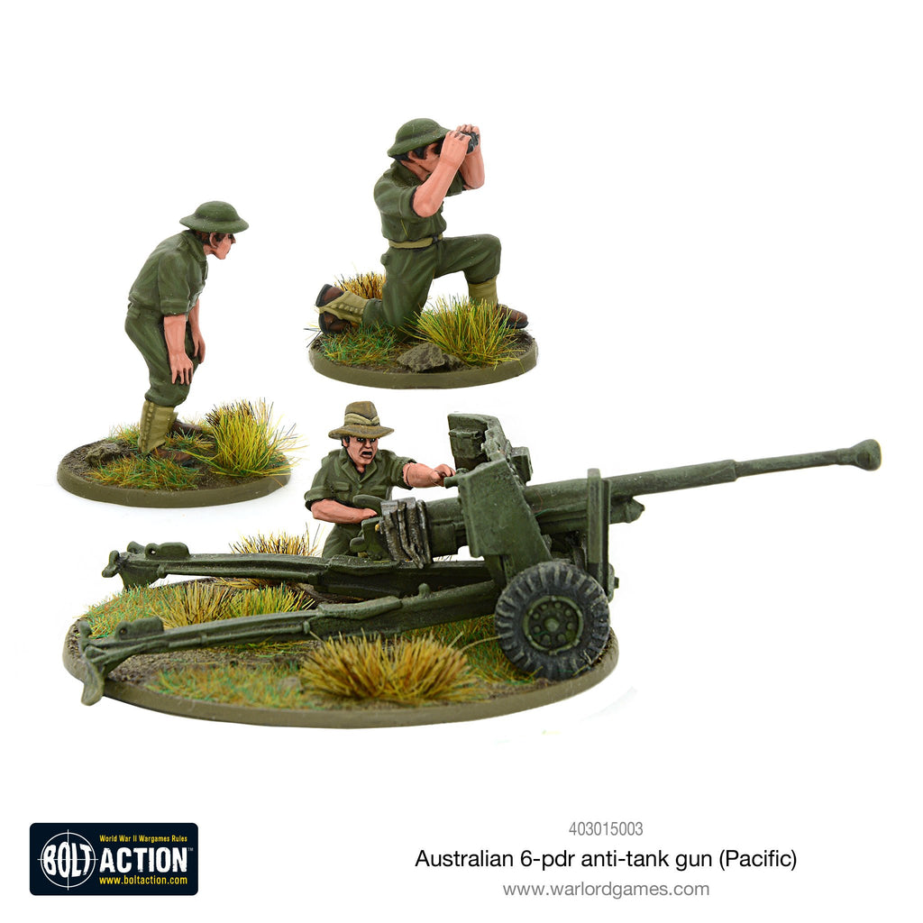 Warlord Games - Bolt Action - Australian 6-pdr Anti Tank Gun (Pacific)