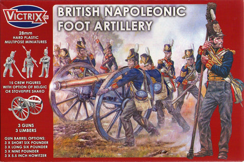Victrix - British napoleonic foot artillery - 28mm
