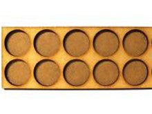 Movement Trays in MDF (14,8cm x 6cm) 10 SLOT (circular 25mm diam.)