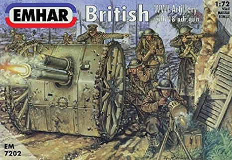 Emhar - British WWI Artillery with 18 pdr gun - 1:72