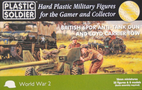 Plastic Soldier - British 6pdr anti tank gun and loyd carrier tow - 15mm