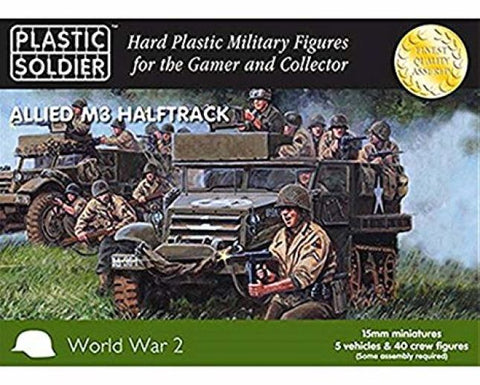 Plastic Soldier - Allied M3 Halftrack - 15mm - WW2V15016