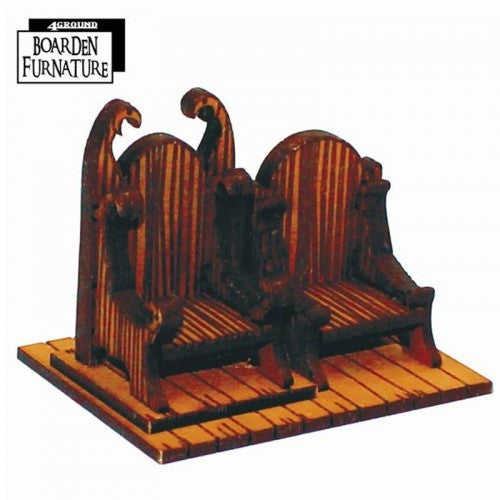 4GROUND - Fantasy, Dark Age or Medieval Game: Boarden Royal Throne X 1 (Light Wood) - 28mm