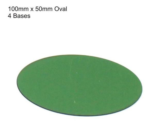 4GROUND - Green primed bases 100 x 50 mm (4) - PBG-10050O