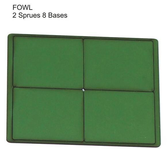4GROUND - Green primed bases FOW Large (8) - PBG-FOWL