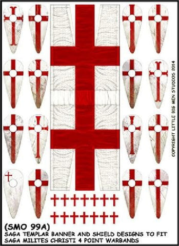 Little big men - Templar Banner and Shield Transfers - Milites Christi (A) - 28mm