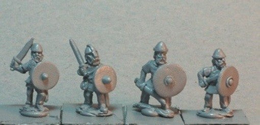 Baueda - Viking Bondi with Swords (8) - 15mm - VIK3