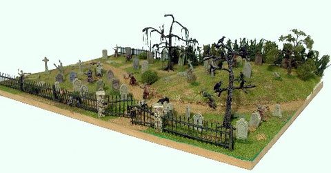 Renedra - GS1 - GRAVESTONES (42) + CROWS - 28mm