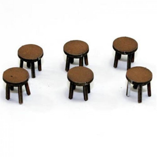 4GROUND - Four legged stool in light wood - 28mm - 28S-FAB-014L