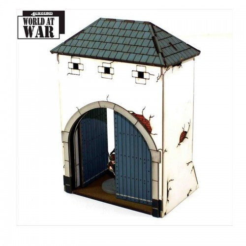 4GROUND - La Haye Sainte Collection: Gated Dovecote - 28mm - 28S-WAW-A09