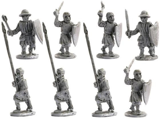 Mirliton - Swords, clubs, axes attacking - 15mm
