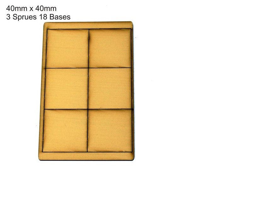 4GROUND - Tan primed bases 40 x 40 mm (18)