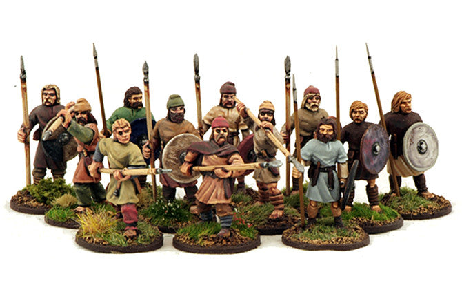 Gripping Beast SX04 - SAGA - Anglo-Saxon Geburs - Spears & Shield (levy) -  28mm