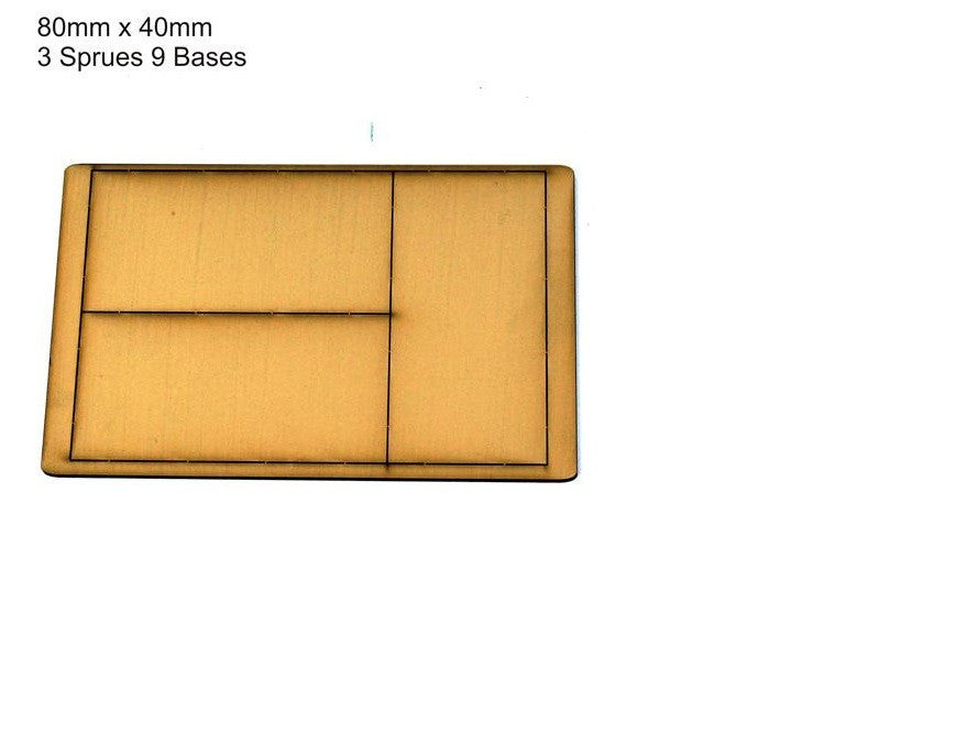 4GROUND - Tan primed bases 80 x 40 mm (9) - PBT-8040
