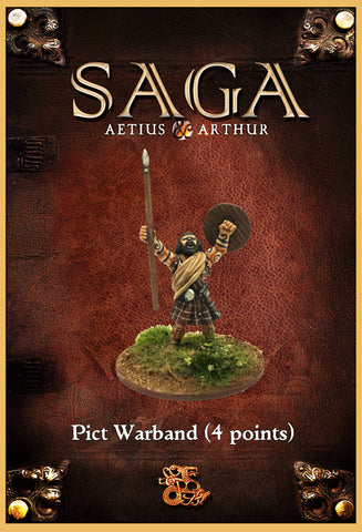 Gripping Beast - SAGA - Aetius & Arthur - Pict Warband (4 points) - 28mm