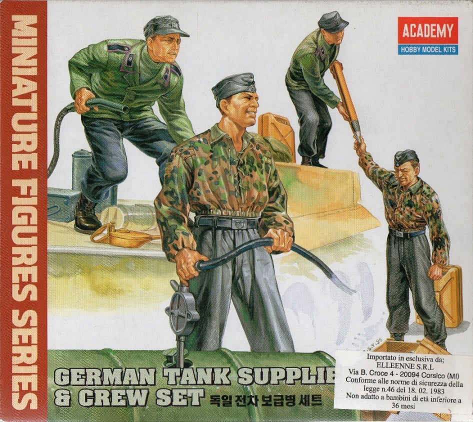 Academy Hobby Model Kits - German tank supplies & crew set - 1:35