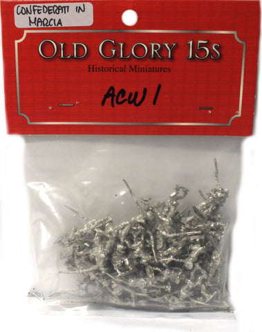 Old Glory - Confederates Marching - unpainted - 15mm