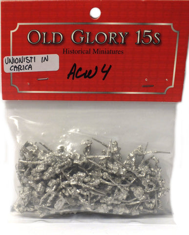 Old Glory - Union Infantry Charging - unpainted - 15mm