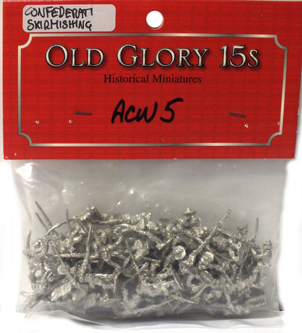 Old Glory - Confederate Infantry Skirmishing - unpainted - 15mm