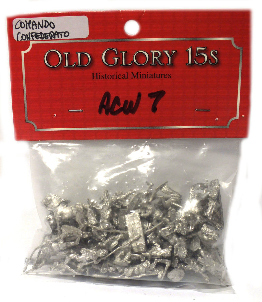Old Glory - Confederate Infantry Command - unpainted - 15mm