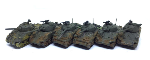 Peter Pig - Sherman Tanks - 15mm - Painted