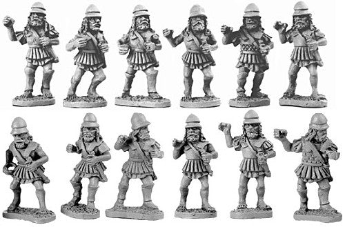 Xyston - Later Spartan Hoplites in Linen Cuirass - 15mm - ANC20005