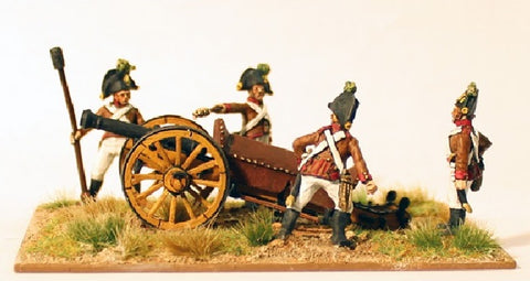 Perry - Austrian artillery firing 6pdr - 28mm - AN3