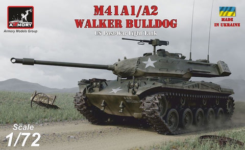 Armory 72412 - M41A1/A2 Walker Bulldog U.S. post-war Light tank - 1:72