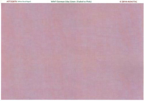 Aviattic 32079 - WWI German lilac linen (faded to pink) (printed on white decal paper) - 1:32