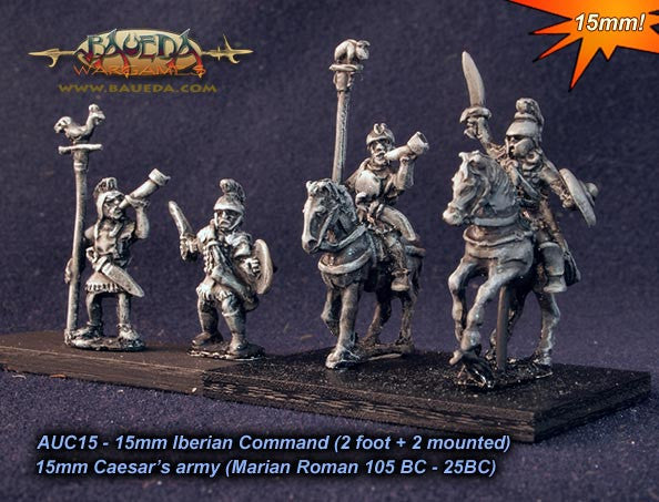 Baueda - Iberian Command (2 foot+2 mounted) - 15mm