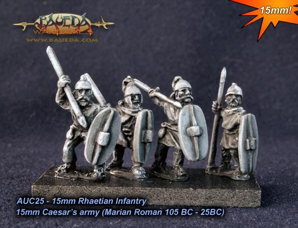 Baueda - Rhaetian infantry (8 foot) - 15mm