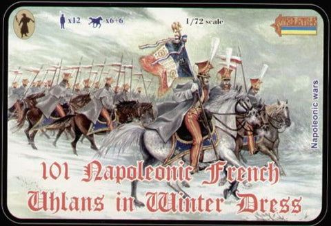 Strelets - 101 Napoleonic French Uhlans in Winter Dress - 1:72
