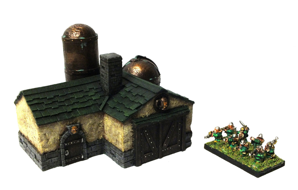 Aster Wargame - Warmaster - Brewery of the dwarves (Painted) Green - 10mm