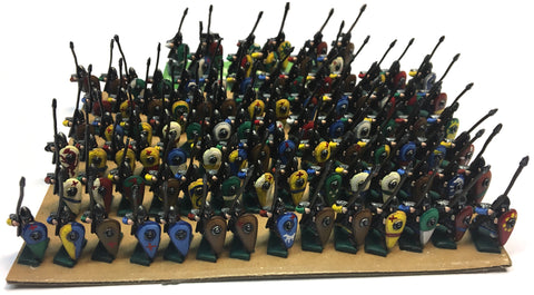 Black Hat - Early Crusaders Spearmen - 15mm - Painted