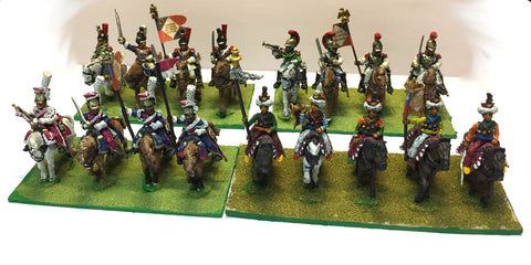 Foundry / Mirliton - French Napoleonic's Cavalry x17 - 28mm - PAINTED