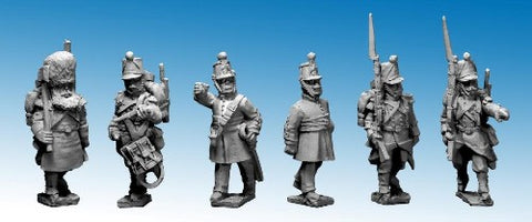 Great War Miniatures - Crimean War - French Line Infantry Command in Shakos - CF06