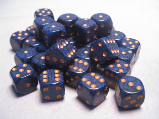 Chessex - Golden Cobalt - Dice block (12mm)