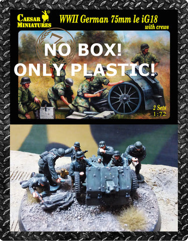 Caesar miniatures - German 75mm le IG18 (NO BOX! PLASTIC ONLY) - 1:72