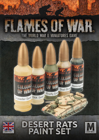 Flames of war - Desert rats Paint Set