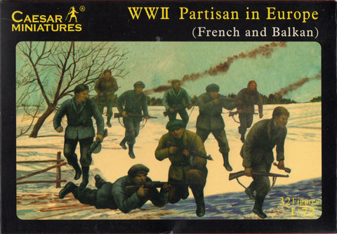 Caesar Miniatures CMH056 - WWII Partisan in Europe (French and Balkan) - 1:72