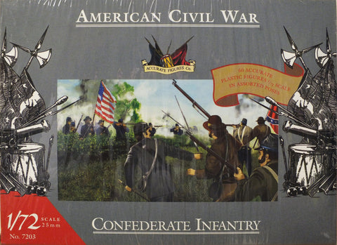 Accurate Figures Ltd. - Confederate Infantry - 1:72