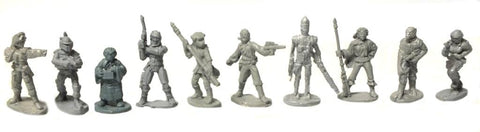 Star Wars - Bounty Hunters complete set (West End Game) - 25mm