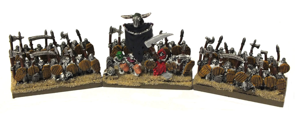 Warmaster - Undead Skeletons - 10mm (Type 1) PAINTED