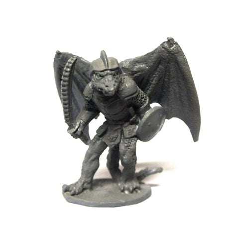 Dragon man with sword and shield - 28mm
