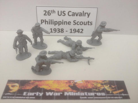 EWM - USA 10x Dismounted 26th US Cavalry Philippine Scouts WWII - 20mm