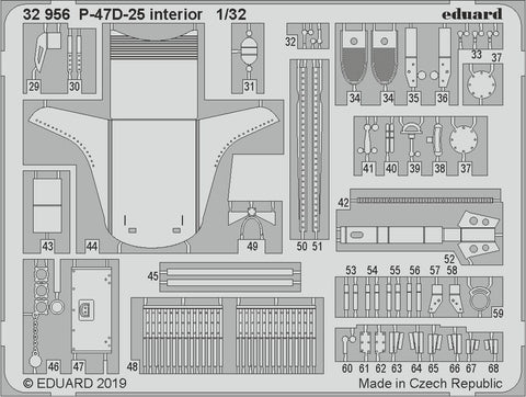 Eduard 32956 - Republic P-47D-25 Thunderbolt interior - 1/35