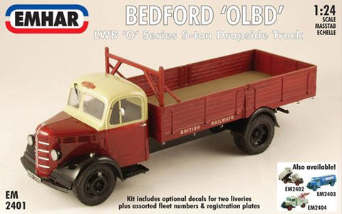 Emhar - 2401 - Bedford 'O' Series Long Wheel Base Dropside Truck/Flatbed - 1:24