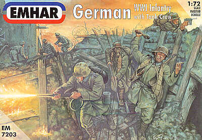 Emhar - German (WWI) infantry and Tank Crew - 1:72