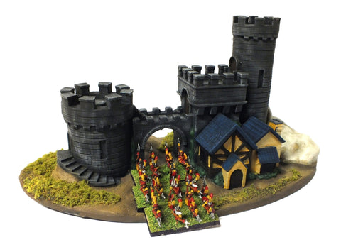 Empire Castle for Warmaster rules (painted) - 10mm